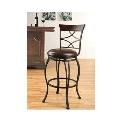 bar stool kitchen island traditional swivel bar chair set 2 counter height metal