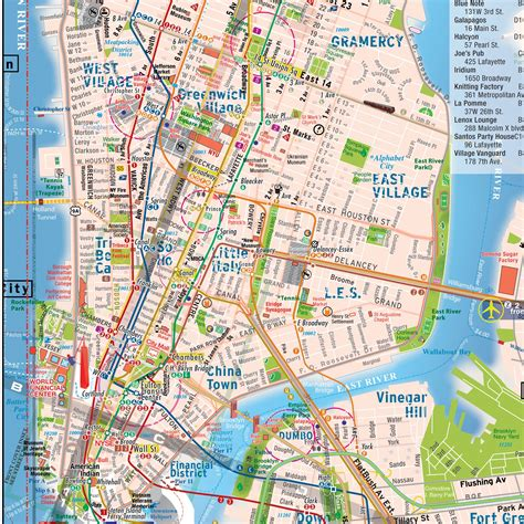 maps of nyc maps update 58502825 manhattan map tourist large