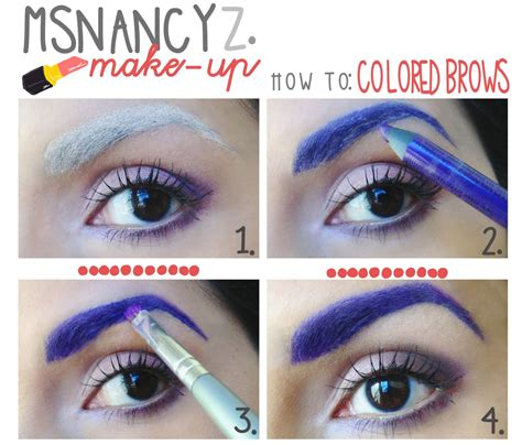 colored brows colored brows witch makeup