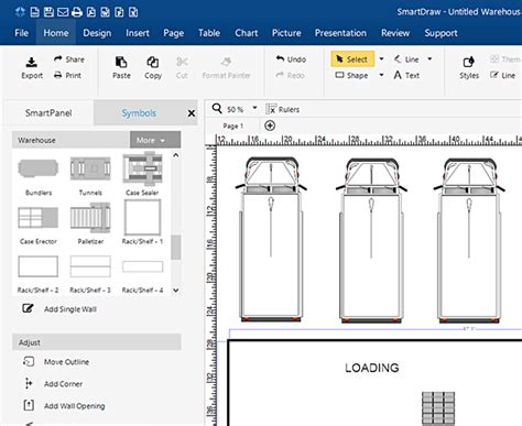 blueprint drawing software free warehouse layout design software free download
