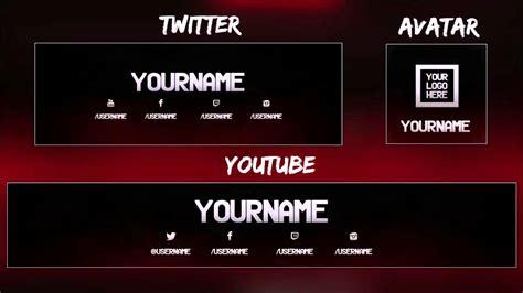 youtube ve twitter banner tasarımı psd indir katzfiel