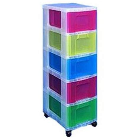 Really Useful Drawer Tower by Really Useful Polypropylene 5 Drawer Storage Tower 5 X