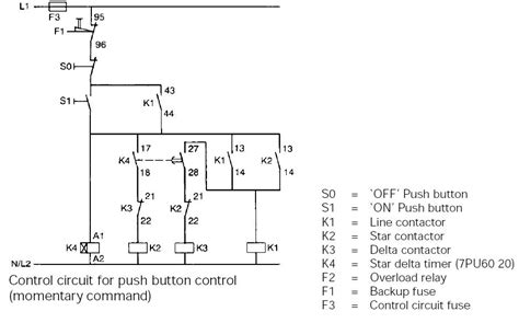 typical circuit diagram of delta starter plc plc