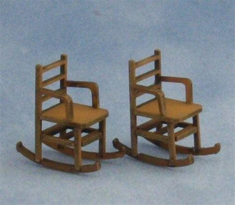 rocking chair kit 1 48th scale two ladderback rocking chairs kit