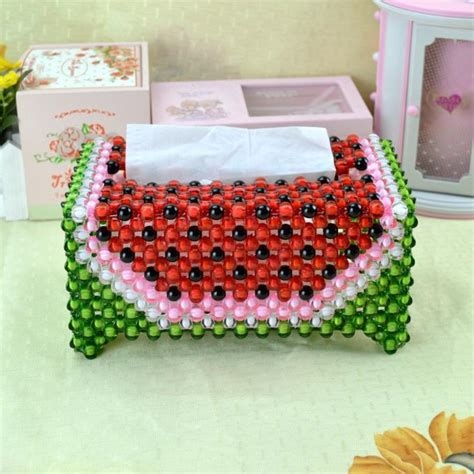 diy handmade watermelon tissue box for car and home