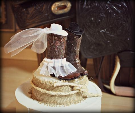 country style cake toppers cowboy boots wedding cake topper western by morganthecreator