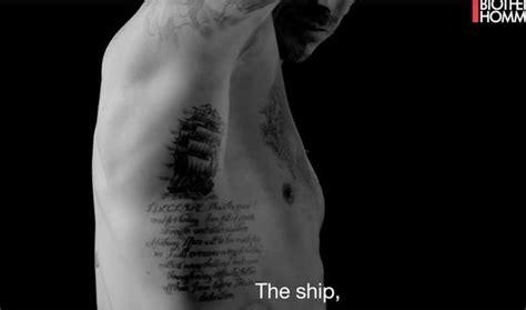david beckham tattoo palm david beckham strips off for an intimate look at his
