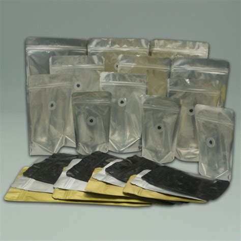 Flat Bottom Kombinasi 750 Gram Zipper 9 5x22 Silver Gold Black stand up pouch coffee bags with one way degassing valve