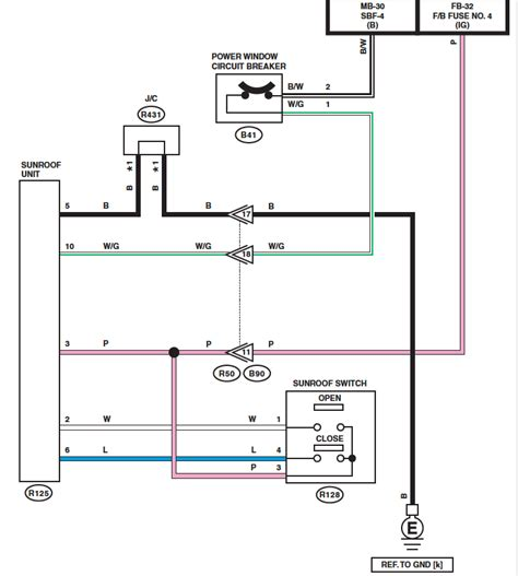 sunroof switch wiring diagram image details