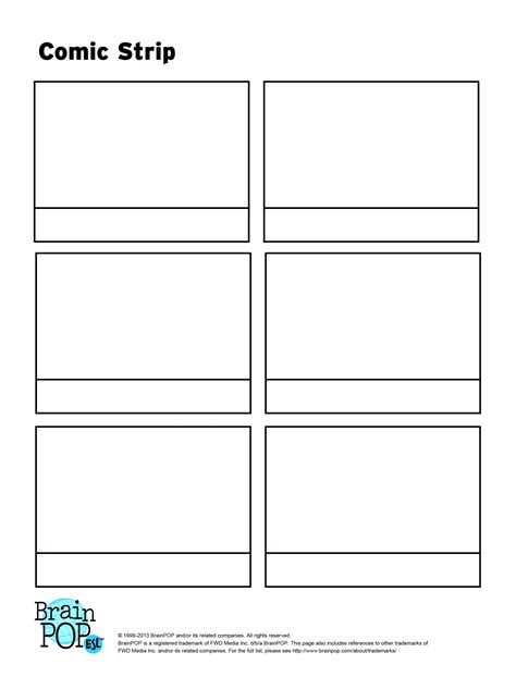 comic template printable comic activity brainpop educators