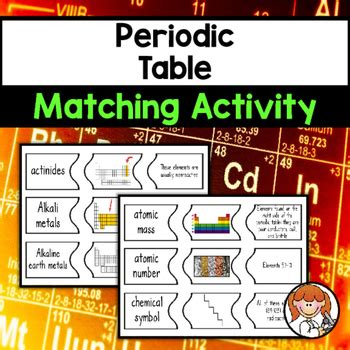 periodic table matching periodic table matching activity by science tpt