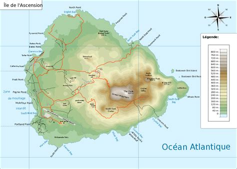 ascension island map two boats ascension island