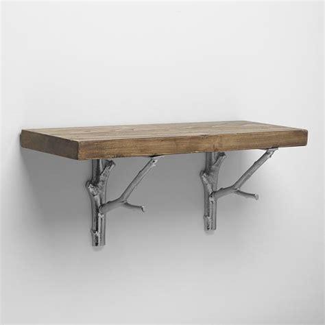 reclaimed wood shelf reclaimed wood shelving brackets west elm