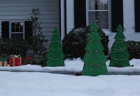 holiday tree yard decor at the home depot