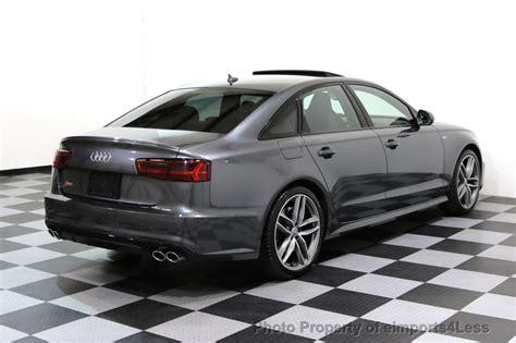 Audi S6 Quattro by 2016 Used Audi S6 Certified S6 4 0t Quattro Prestige Awd