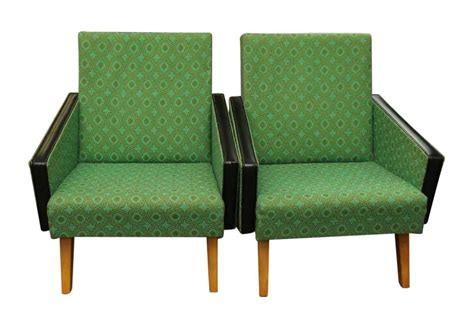 green living room chairs pair of mid century modern green arm chairs olde things