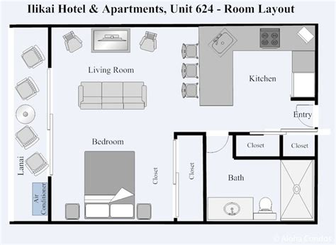 ilikai hotel floor plan ilikai hotel condo 624 1 bedroom beach view condo oahu