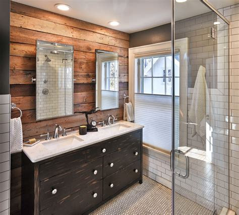 Cabin Badezimmer Vanity by Heights Rustic Bathroom Other Metro By