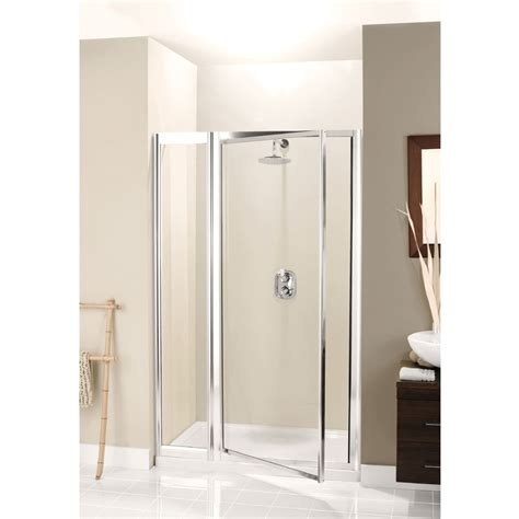 Simpsons   Supreme Pivot Shower Door with Inline Panel   3
