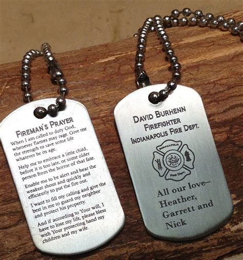 custom tags for pets firefighters prayer custom tags fireman tags