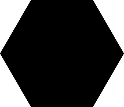 black hexagon clip art at clker com vector clip art