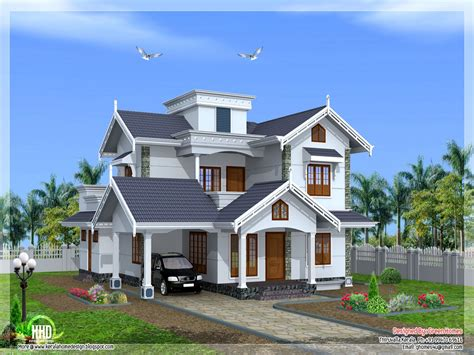 villa style homes normal house in kerala beautiful house designs kerala