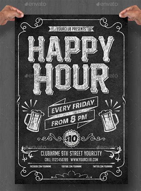Chalkboard Poster Template 20 cool chalkboard flyer templates print idesignow