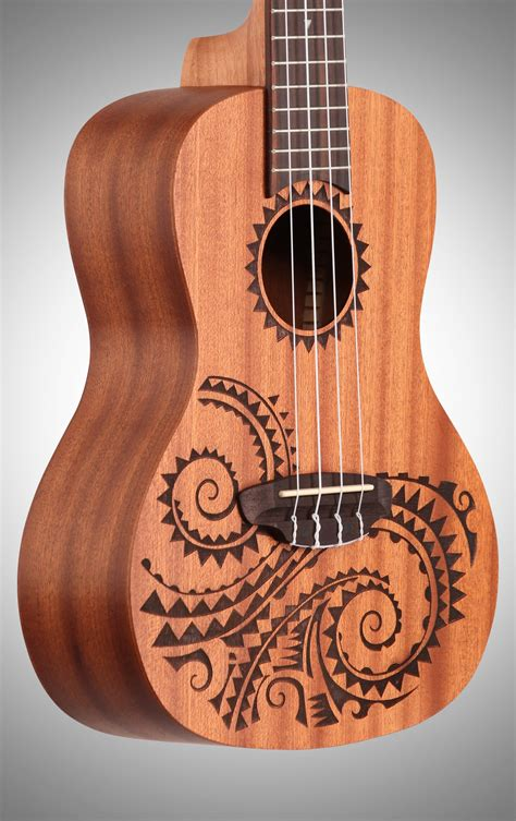 luna tcmah concert tattoo ukulele with gig bag zzounds