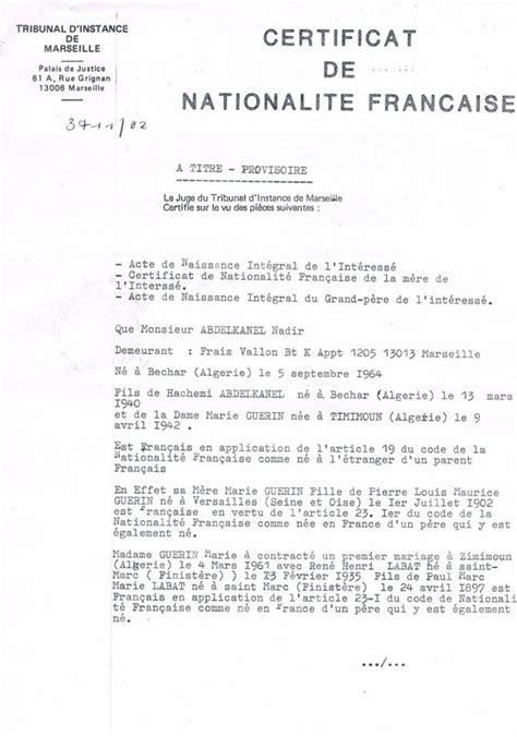 Modèle De Lettre Demande De Naturalisation Certificat Nationalite Seul Moyen Prouver Nationalite F