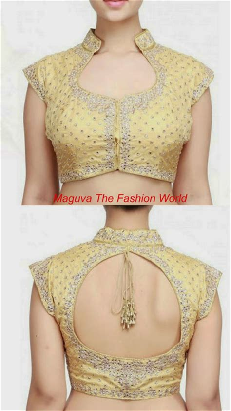 color neck pattern trendy gold color blouse neck designs maguva the fashion