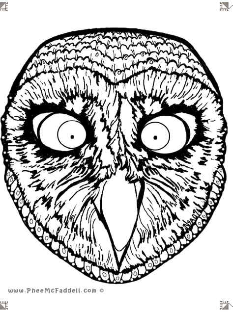owl mask coloring page masks coloring pages coloring home
