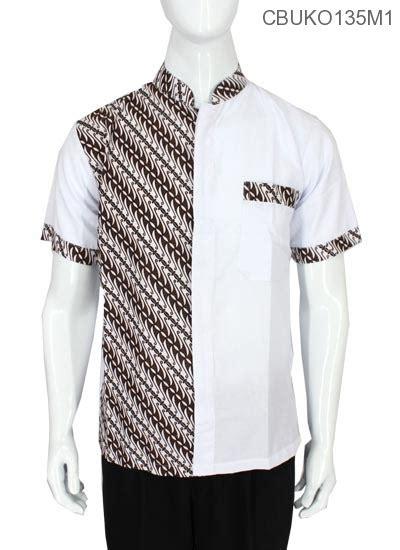 Koko Muslim Motif Batik Kebumen baju muslim koko motif parang kitir kemeja lengan pendek