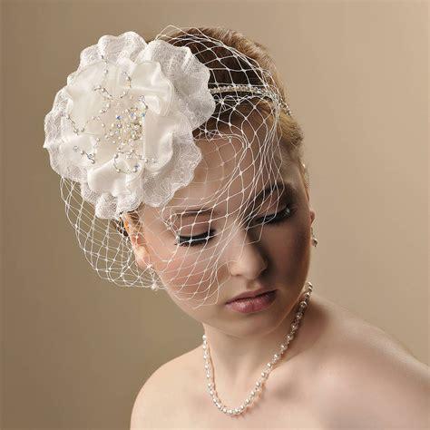 Handmade Birdcage Veil - handmade georgina wedding headpiece by rosie willett