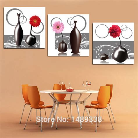 3 free shipping sell modern 3 pieces free shipping sell modern wall painting vase kitchen decor decorative picture