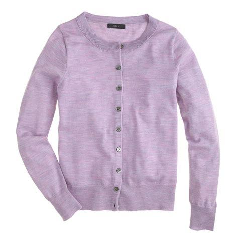 Cardigan Sweater Wanita Purple Knitted 328017 j crew merino wool tippi cardigan sweater in purple lyst