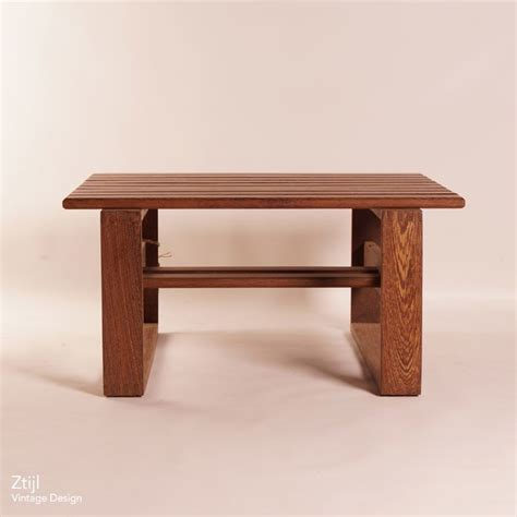 vintage wenge coffee table 60s ztijl