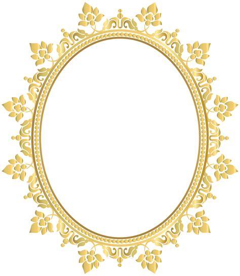 Transparent Oval Frames | oval decorative border frame transparent clip art png
