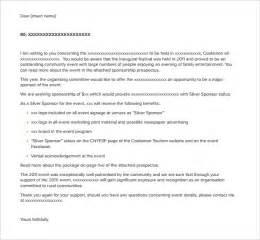 event sponsorship template sponsorship letter templates 40 free sle exle
