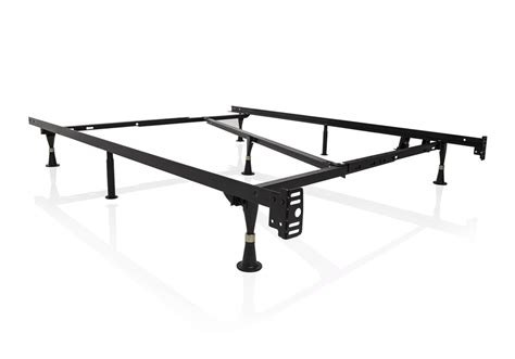 Metal Bed Frame Wheels 3 Way Adjustable Metal Bed Frame With Wheels Louisville Overstock Warehouse