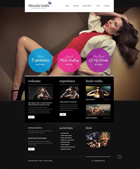 fashion model portfolio joomla template 45815