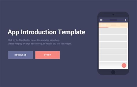 App Introduction Template Free Download Mobile App Introduction Template Idevie