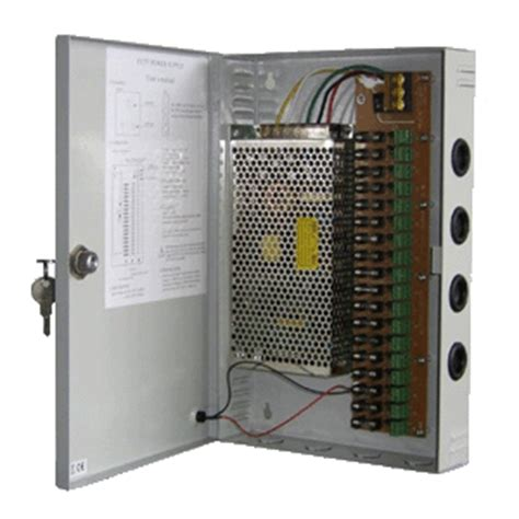 Power Supply Cctv Central Box 12v 30a 18 Way Sekring With Fan centralized cctv power supply 18 channels power switching