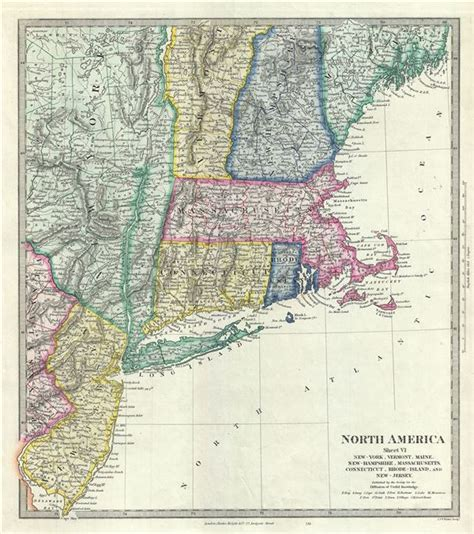 map of maine new hshire vermont massachusetts rhode island and connecticut world america sheet vi new york vermont maine new hshire massachusetts connecticut