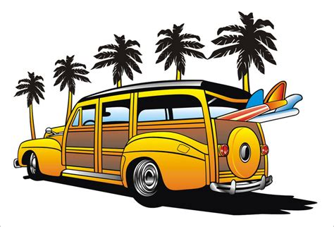 surf car clipart woody vehicle clipart