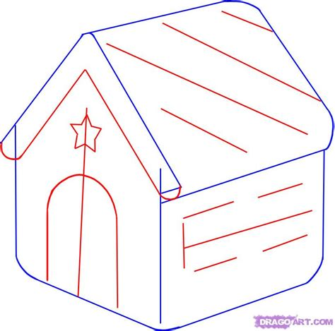 how to draw a house step by step how to draw a gingerbread house step by step christmas stuff seasonal free online