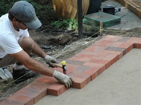 How To Lay A Patio On Concrete by Laying Pavers Concrete Patio Home Design Ideas