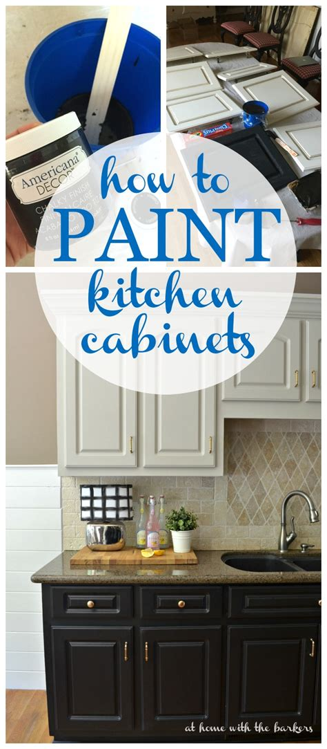pinterest painted kitchen cabinets how to paint kitchen cabinets at home with the barkers