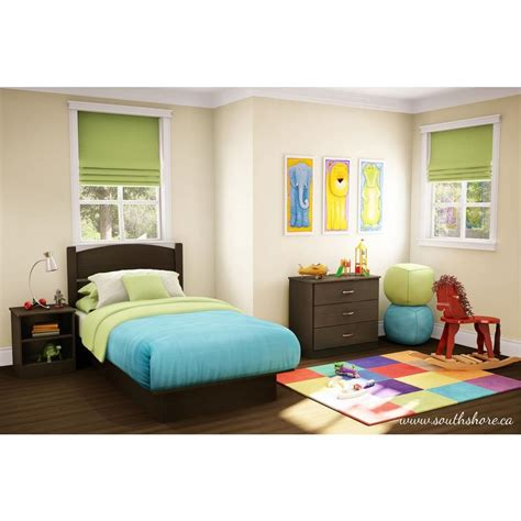 kids twin bedroom set south shore libra 3 piece chocolate twin kids bedroom set