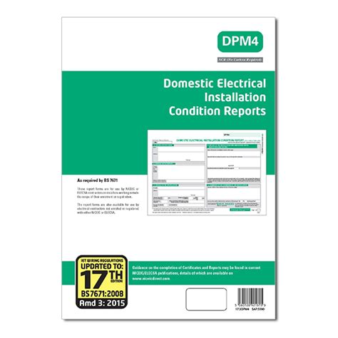 electrical condition report template niceic elecsa eca domest