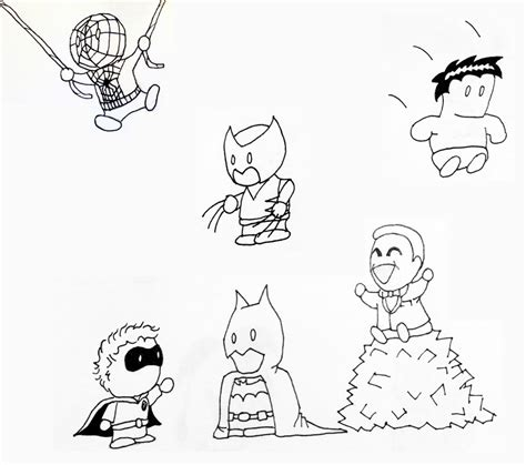 chibi characters coloring pages chibi marvel free coloring pages